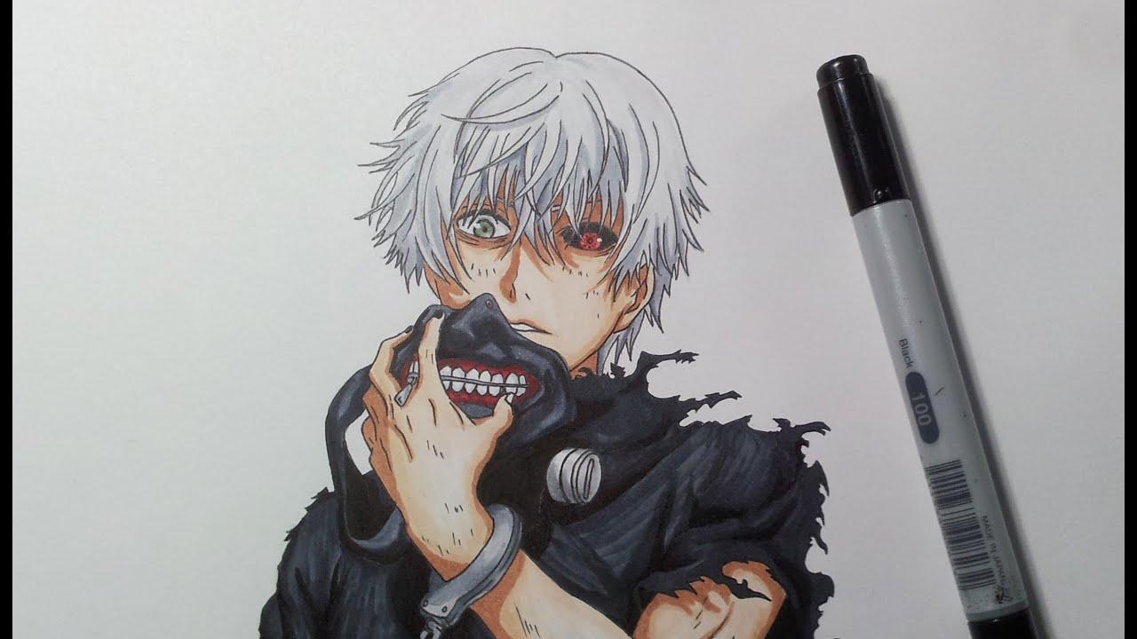 Drawing Kaneki Ken From Tokyo Ghoul Youtube