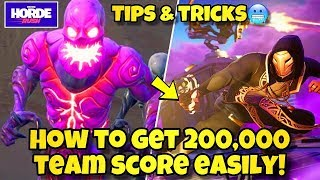 HOW TO GET 200,000 TEAM SCORE IN HORDE RUSH EASILY! Fortnite BR (TEAM SCORE OF 200,000 HORDE RUSH)