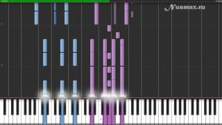 Hans Zimmer - Davy Jones (OST Pirates Of The Caribbean) Piano Tutorial (Synthesia + Sheets + MIDI)