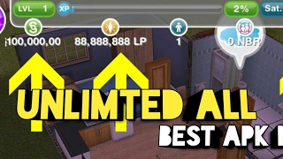 (APK MOD)HACK THE SIMS FREEPLAY UNLIMITED ALL LATEST 2017 NO ROOT
