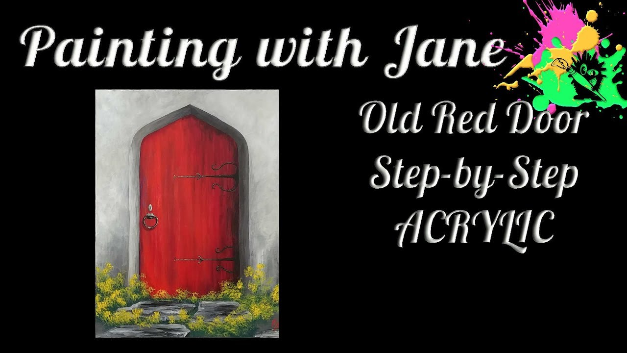 Old red door step by step acrylic painting on canvas for beginners old red door step by step acrylic painting on canvas for beginners biocorpaavc Images