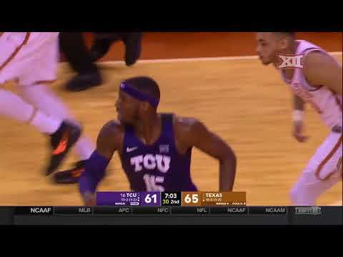 TCU at Texas Men's Basketball Highlights