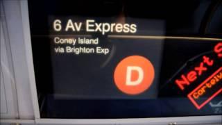 MTA NYC Subway R160 D Train FIND via The Brighton Line