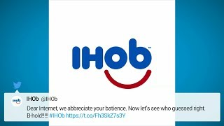 IHOP changes name to IHOB, gets shade from Wendy's