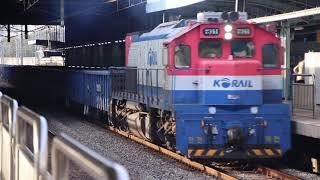[단편 영상] 경인선 도원역 무개화물열차 #3331 풀…
