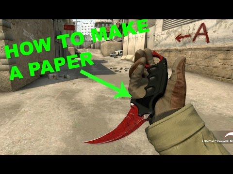How to Make a Paper CS GO Karambit