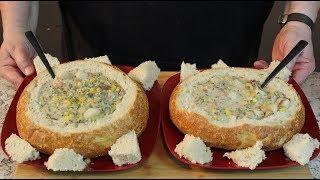 Clam Chowder from Niagara Falls!  (Served in a bread bowl)