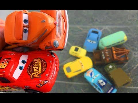 Тачки 3 Мультики про Машинки Молния Маквин Бассейн на Природе Cars 3 Lightning McQueen