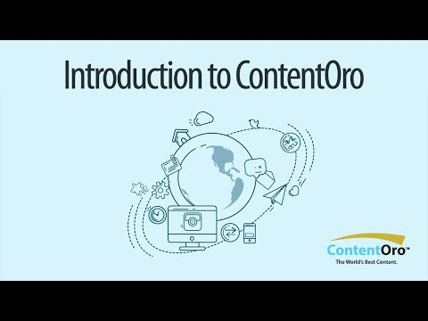 Introduction to ContentOro
