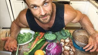 One of Simnett Nutrition's most viewed videos: What I Eat To Stay Strong & SHREDDED Vlog | Vegan Nutrient Analysis