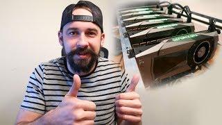 6 GPU Mining Rig - NVIDIA GTX 1070 Ti