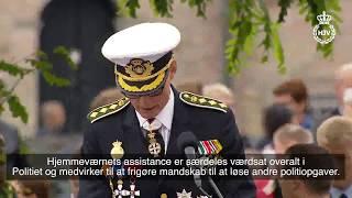 Rigspolitichefen roser Hjemmeværnets indsats ved grænsen på Flagdagen 2017