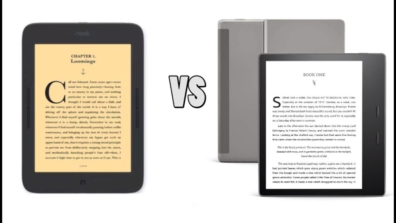 Amazon Kindle Oasis 3 vs Nook Glowlight Plus 2019