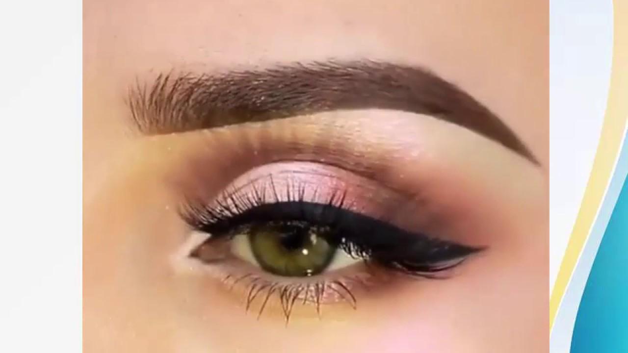 c6d5bf08a35f5 مكياج عيون بسيط حلو و ناعم - YouTube