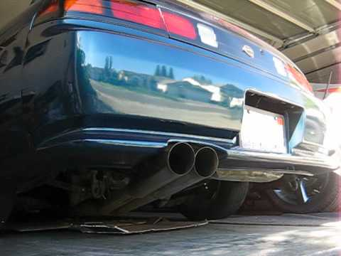 S14 Custom Blast Pipes With Dc Sports 4 2 1 Header Youtube