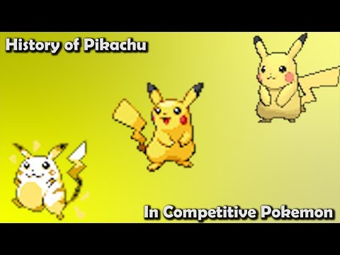 How GOOD was Pikachu ACTUALLY?  History of Pikachu in Competitive Pokemon Gens 16