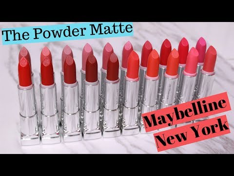 BIYW Review Chapter: #25 MAYBELLINE NEW YORK THE POWDER MATTE LIPSTICK SWATCH&REVIEW