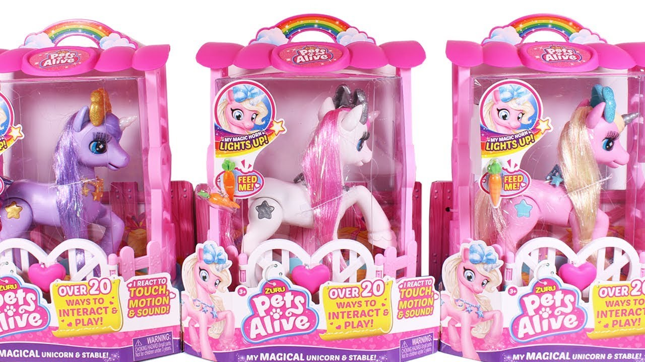 Zuru Pets Alive Unicorns Unboxing Toy Review Youtube