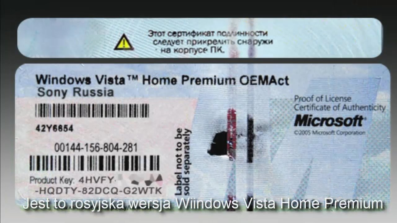 windows vista home premium oemact