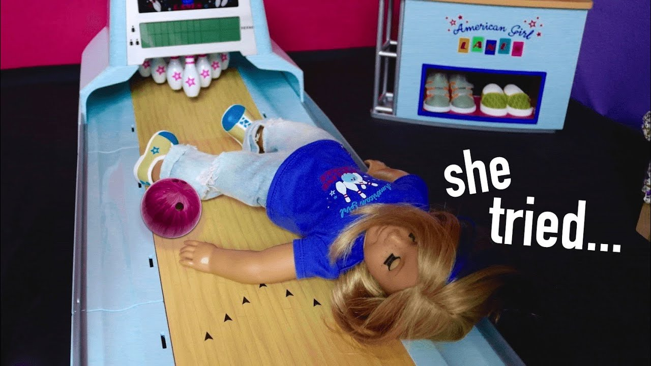LYDIA GOES BOWLING!! AGSM american girl doll stop motion movie | White Fox Stopmotion