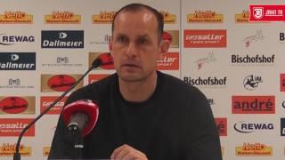 Pressekonferenz vor dem 32. Spieltag gegen den 1  FC Magdeburg
