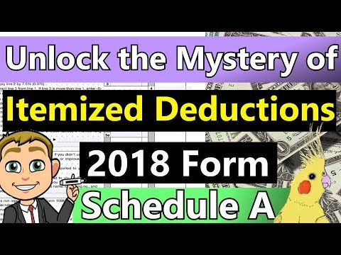 Itemized Deductions Schedule A Explained! (2018 Tax Form Schedule A Itemized Deduction Walk-through)