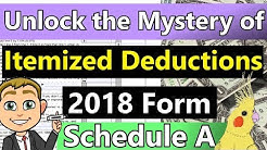 Itemized Deductions Schedule A Explained! (Tax Form Schedule A Itemized Deduction Walk-through)