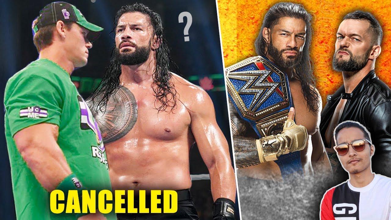 REAL REASON Why WWE CANCELLED John Cena/Roman Reigns Match..?Randy Orton Return Date, Balor Vs Roman