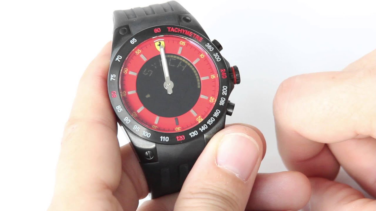 watch designer evo rev shipping watches scuderia shade free red ferrari