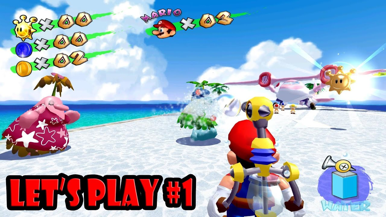 Let's Play Super Mario Sunshine: Part 1 (Dolphin | HD Texture Pack) [1080p  HD] | Nintendo GameCube