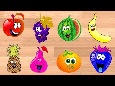 Learn Colors and Fruits Shadow Images For Children || Cartoon Video For Kids thumbnail