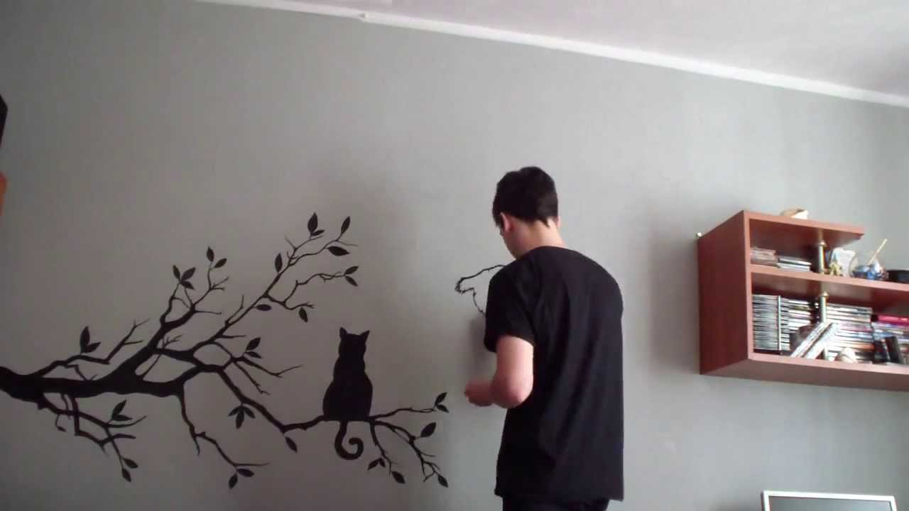 painting wall art - YouTube
