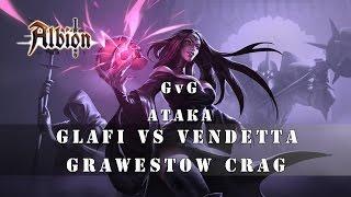 Albion Online - Glafi vs Vendeta - Grawestow Crag в Albion Online (Атака)