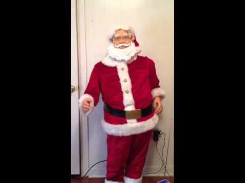 Gemmy karaoke santa