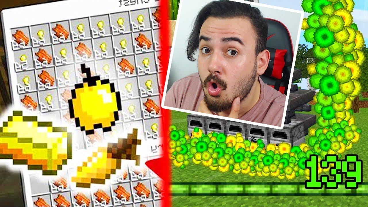 4 TANE FARM YAPTIM( XP FARMI, ALTIN FARMI, ŞEKER KAMIŞI FARMI, YÜN FARMI) HARDCORE #5 Minecraft