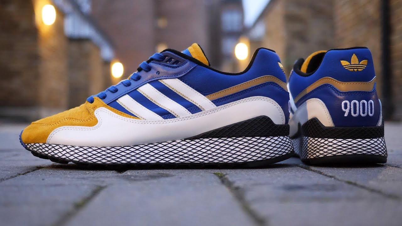 new product cc1da 48c9a Adidas x Dragon Ball Z Ultra Tech Vegeta Unboxing + Quick Look (White,  Navy  Gold)