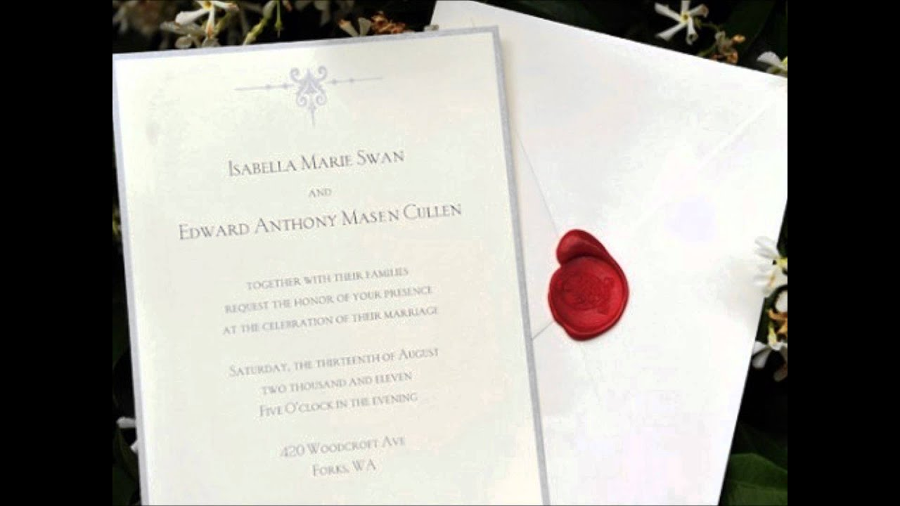 MTV RELEASED BELLA & EDWARD WEDDING INVITATION STILL! - YouTube