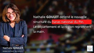 Nathalie Goulet défend la nouvelle structure du haras national du Pin