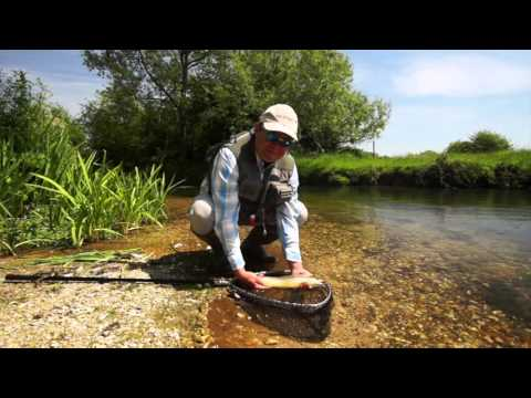 Fishing A Chalkstream At Mayfly Time With JT And Chris