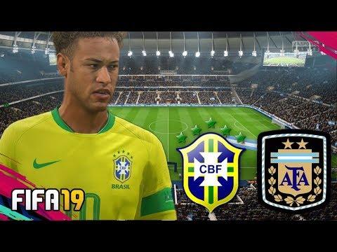 FIFA 19 | ARGENTINA vs BRASIL - Tottenham Hotspur Stadium