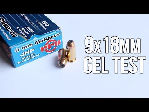 9x18mm gel test: Prvi Partizan 95 gr JHP