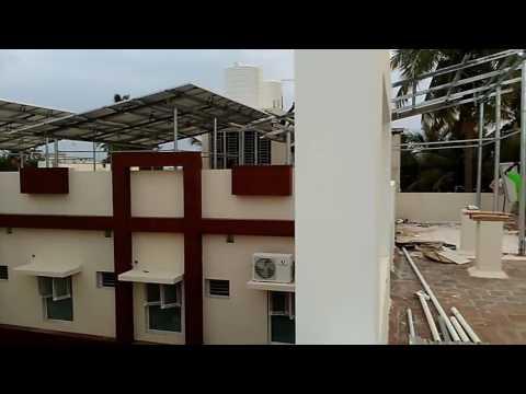 15kw solar power plant system in hospital.installed by solartek.thanjavur
