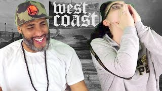 MY DAD REACTS TO West Coast (feat. Blueface, ALLBLACK & YG) (Official Video) REACTION