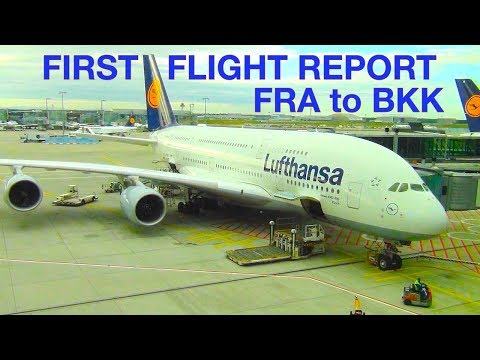 LUFTHANSA ✈ NEW ❌ A World Premiere ❌ FIRST Flight Report ❌ A 380 ❌ Frankfurt to Bangkok ❌ FRA - BKK