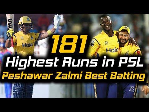 Peshawar Zalmi Best Batting in PSL | Peshawar Zalmi Vs Karachi Kings | Full Match | HBL PSL 2018