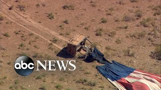 7 people injured after hot air balloon crash l ABC News