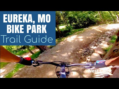 Eureka Mountain Bike Park Missouri TRAIL GUIDE (trails With Names) GoPro Chest Cam