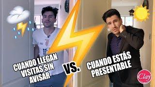 CUANDO LLEGAN VISITAS SIN AVISAR Versus CUANDO ESTÁS PRESENTABLE thumbnail