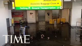 Officials Investigating Cause Of Massive Floods At JFK Airport, Say Pipe Break Weather-Linked   TIME