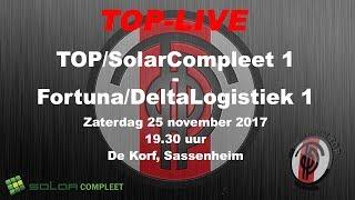 TOP/SolarCompleet 1 tegen Fortuna/Delta Logistiek 1, zaterdag 25 november 2017